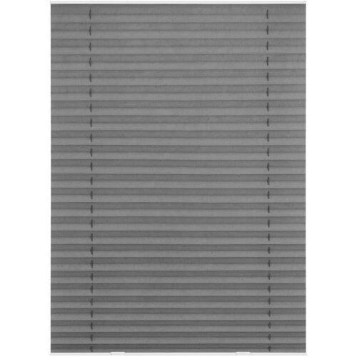 LICHTBLICK Dachfensterplissee »Haftfix«, , Lichtschutz, ohne Bohren, verspannt, Crush-Optik, mit Saugnapf, grau