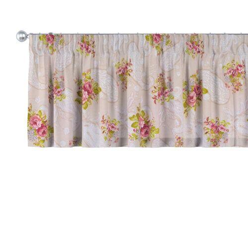 Dekoria Vorhang, , Rosen auf dem beigen Hintergrund