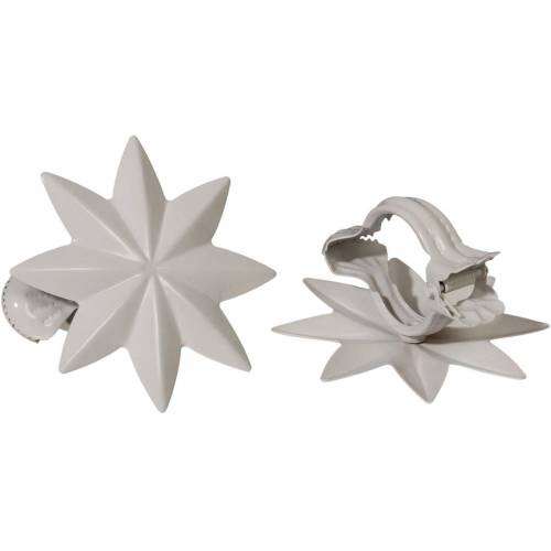 Liedeco Dekoklammer »Stern«, , Gardinen, Vorhänge, (Packung, 2-St), für Gardinen, Vorhänge, weiß
