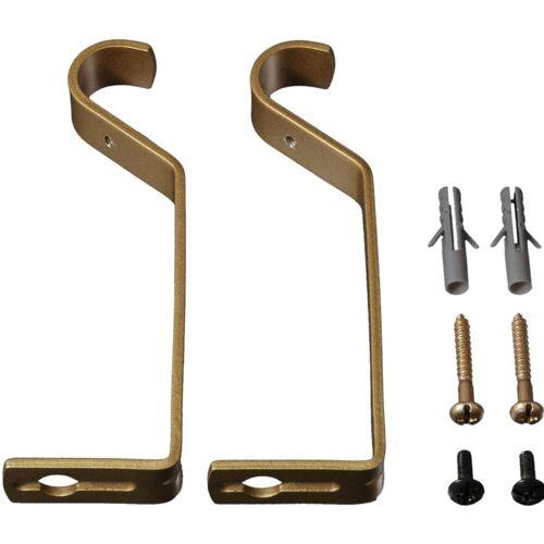 Liedeco Träger, , Gardinenstangen, (Set, 2-St), für Gardinenstangen Ø 20 mm, goldfarben-matt