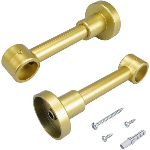 Liedeco Träger, , Gardinenstangen, (1-St), für Gardinenstangen Ø 20 mm, goldfarben-matt