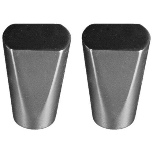 Liedeco Gardinenstangen-Endstück »Dust«, , Gardinen, (Set, 2-St), für Gardinenstangen Ø 16 mm, chromfarben-matt