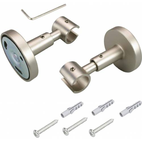 Liedeco Deckenträger, , Gardinenstangen, (1-St), für Gardinenstangen Ø 16 mm, chromfarben-matt