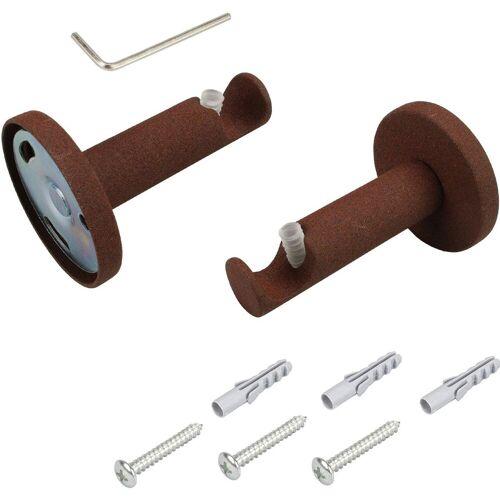 Liedeco Gardinenstangenhalter, , Gardinenstangen, (1-St), für Gardinenstangen Ø 16 mm, rostbraun