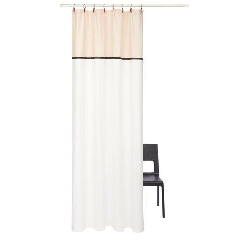 andas Vorhang »Lars«, , Ösen (1 Stück), Kunstlederaufhängung mit Ringen, sand-creme