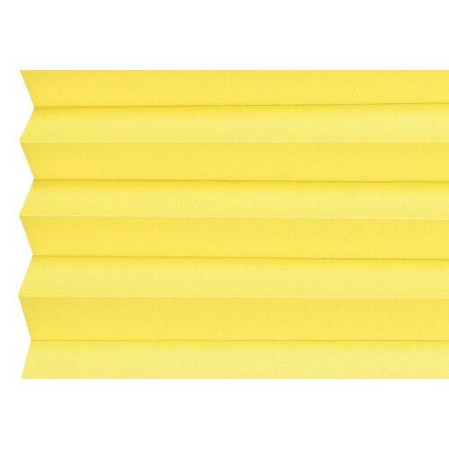 sunlines Plissee nach Maß, , verdunkelnd, mit Bohren, verspannt, sonnengelb