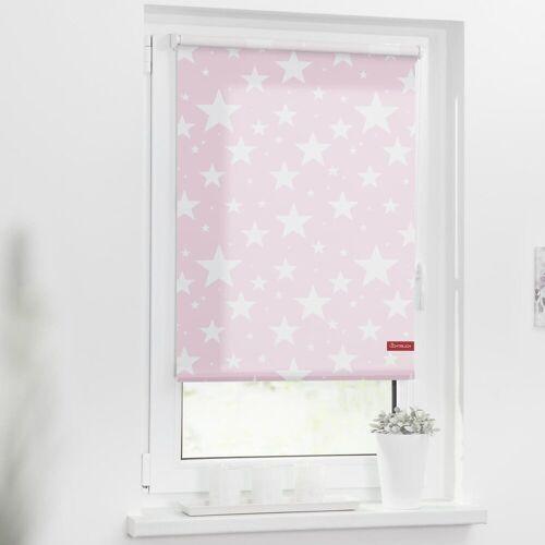 LICHTBLICK Seitenzugrollo »Rollo Klemmfix, ohne Bohren, blickdicht, Sterne«, , blickdicht, freihängend, rosa