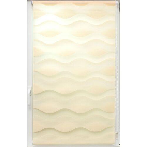 sunlines Doppelrollo »Doppelrollo Welle«, , Lichtschutz, ohne Bohren, freihängend, Effektiver Sichtschutz, creme