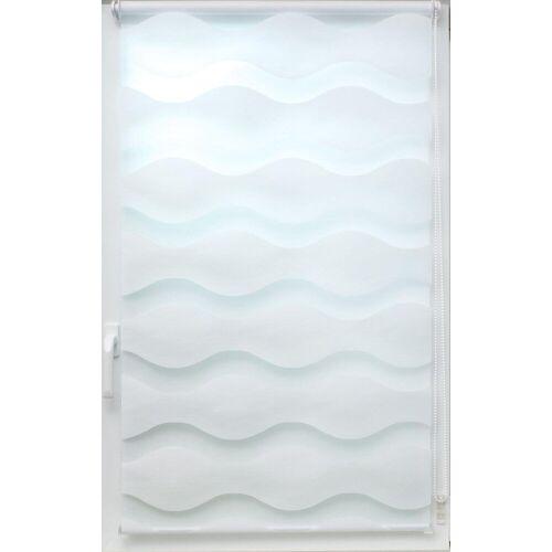 sunlines Doppelrollo »Doppelrollo Welle«, , Lichtschutz, ohne Bohren, freihängend, Effektiver Sichtschutz, weiß