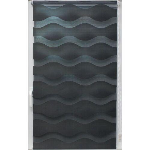 sunlines Doppelrollo »Doppelrollo Welle«, , Lichtschutz, ohne Bohren, freihängend, Effektiver Sichtschutz, grau