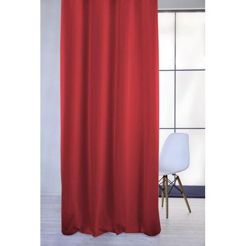 Apelt Vorhang »4362 Rips Uni«, , Ösen (1 Stück), Pflegeleichter Uni, rot