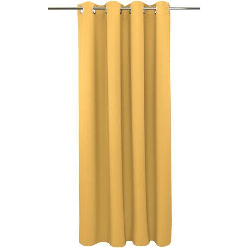 """VHG Vorhang »Una«, , Ösen (2 Stück), Vorhang """"Una"""", , mit Ösen, hellgelb"""