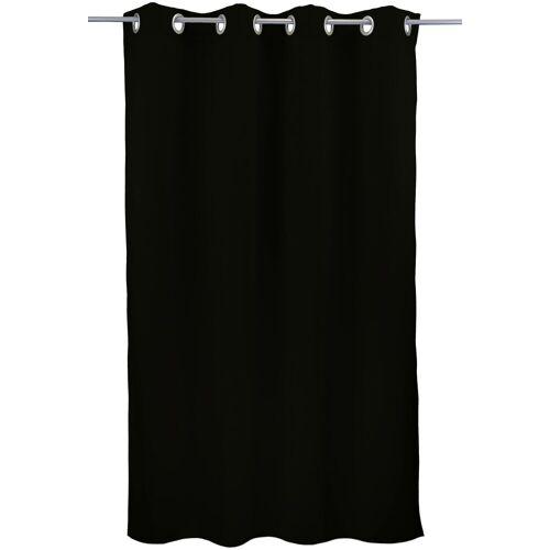 """VHG Vorhang »Leon1«, , Ösen (1 Stück), Vorhang """"Leon"""", , mit Ösen, schwarz"""