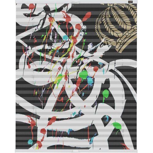 POMPÖÖS by Lichtblick Plissee »Klemmfix Motiv Art«, , blickdicht, ohne Bohren, Faltenstore