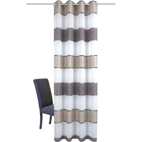 HOME WOHNIDEEN Vorhang »TALWER«, , Ösen (1 Stück), stein