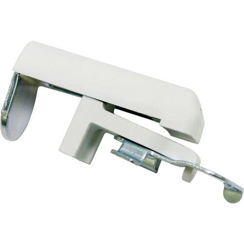 GARDINIA Sichtschutzbefestigung »Klemmträger Metall/Kunststoff«, , Jalousien, (2-tlg), Serie Aluminium-Jalousie 25 mm, weiß