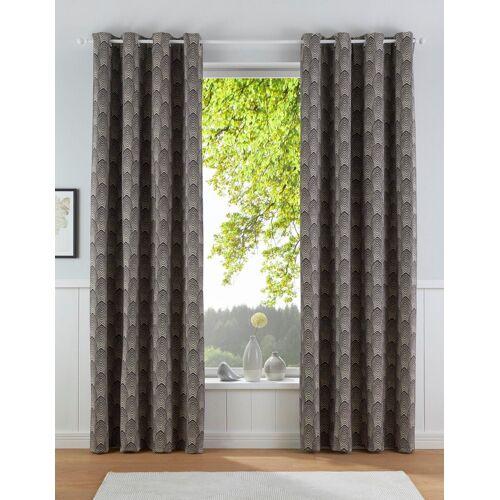 Leonique Vorhang »CHENILLE«, , Ösen (1 Stück), grau