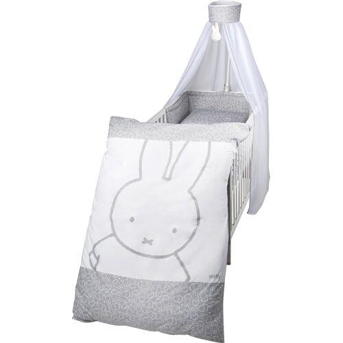 Roba® Himmelbettgarnitur »Miffy«, , Kinderbetten, (4 St), mit Bettwäsche, Nestchen und Himmel