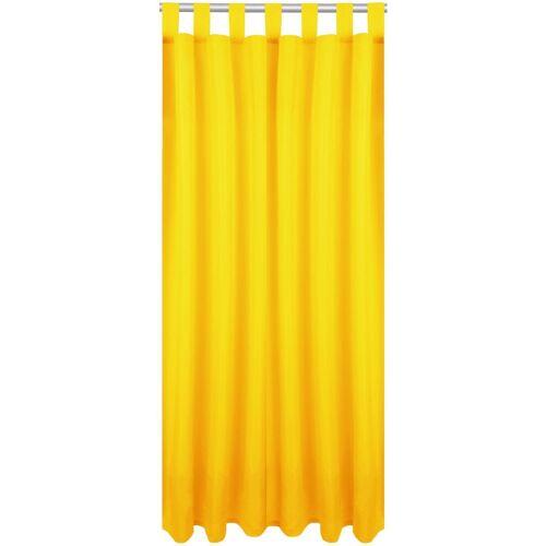 Bestlivings Vorhang, , Schlaufen (1 Stück), Blickdichte Gardine Fertiggardine mit Schlaufen, Schlaufenschal in versch. Größen und Farben verfügbar, Gelb