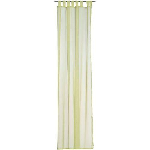 Gözze Vorhang »Sambia Schlaufenschal«, , Schlaufen (1 Stück), HxB: 255x140, Voilé Uni, grün