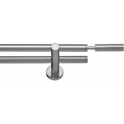 indeko Gardinenstange »Inka«, , Ø 16 mm, 2-läufig, Fixmaß