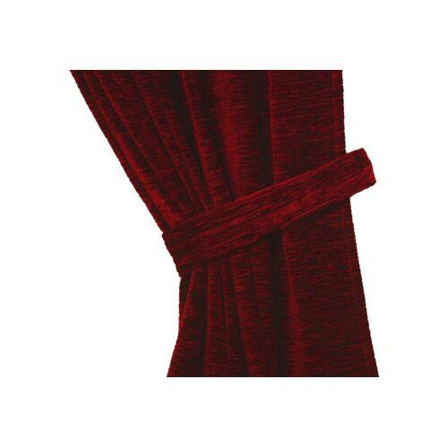 Wirth Raffhalter »Thermo-Chenille 288g/m²«, , Gardinen, (2-tlg), rot