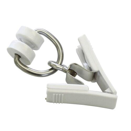 GARDINIA Gardine »T-Rollringe mit Klammer weiß cm«,