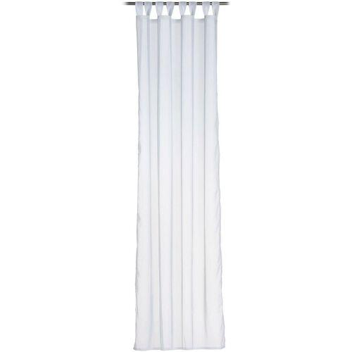 Gözze Vorhang »Sambia Schlaufenschal«, , Schlaufen (1 Stück), HxB: 255x140, Voilé Uni, weiß