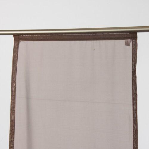 SCHÖNER LEBEN. Vorhang »Schiebevorhang Flächenvorhang Fertiggardine 60x245cm Voile mocca«, , (1 Stück)
