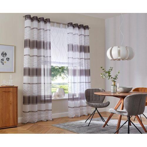my home Gardine »Jay«, , Ösen (2 Stück), Vorhang, Fertiggardine, transparent, grau