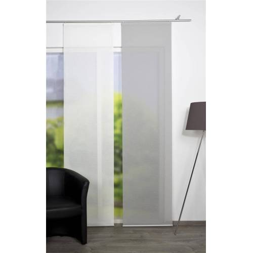 HOME WOHNIDEEN Schiebegardine »Bambus-Optik Rom 260 x 60 cm Grau«, , (1 Stück)