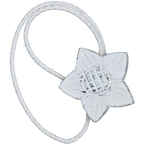 Gerster Raffhalter »Florena«, , Gardinen, (2-tlg), Magnethalter, weiß