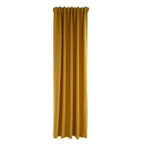 HOMING Vorhang, , Schlaufenschal 140x245 Vorhang Wohnzimmer Schlafzimmer blickdicht safran