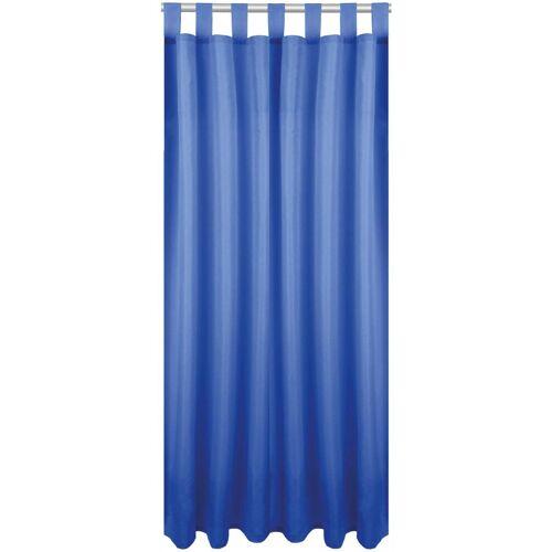 Bestlivings Vorhang, , Schlaufen (1 Stück), Blickdichte Gardine Fertiggardine mit Schlaufen, Schlaufenschal in versch. Größen und Farben verfügbar, Blau