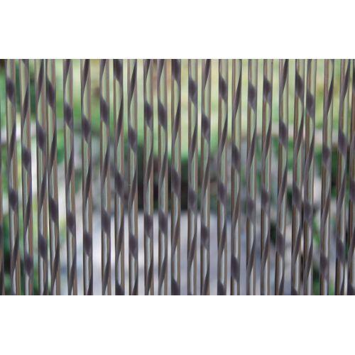 La Tenda Türvorhang »Türvorhang SIENNA 2 Raumteiler Fliegenvorhang Streifenvorhang Insektenvorhang grau transparent«, , individuell in Länge und Breite kürzbar