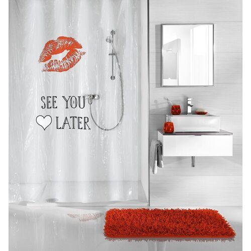 Kleine Wolke Duschvorhang »See You Later«, 180 x 200 cm, weiß