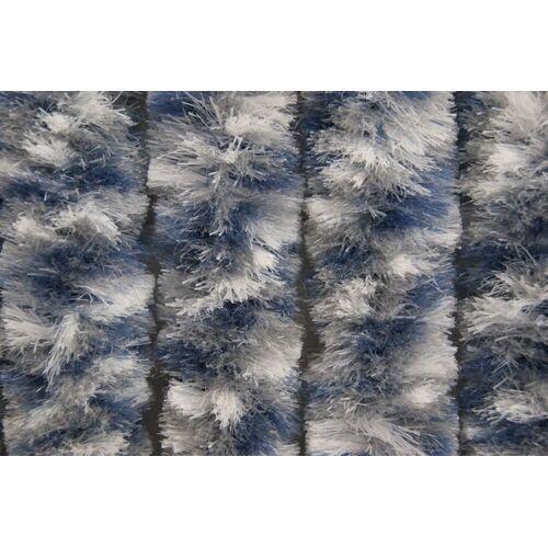 EXPLORER Türvorhang, , Flauschvorhang weiss/grau/blau Türvorhang Insektenschutz Vorhang Hitzeschutz