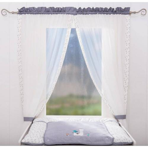 Be Be's Collection Vorhang »Vorhang Kleine Prinzessin, 150 x 100 cm (2 Schals)«, , grau