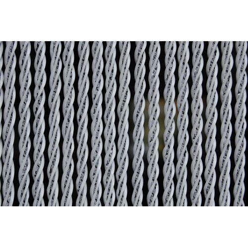 La Tenda Türvorhang »Pro Türvorhang BELLANO XL 3 Raumteiler Luxus Fliegenvorhang Insektenvorhang weiß transparent«, , H-Profil zur einfachen Montage