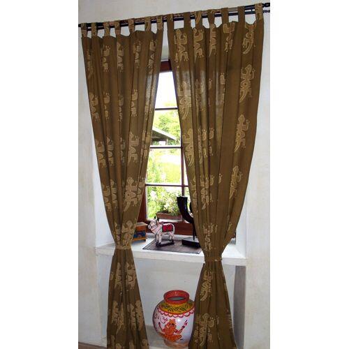 Guru-Shop Vorhang »Vorhang, Gardine (1 Paar Vorhänge, Gardinen)..«, , 290 cm-grün,grün