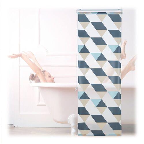 relaxdays Duschrollo »Duschrollo mit geometrischem Design« Breite 60 cm