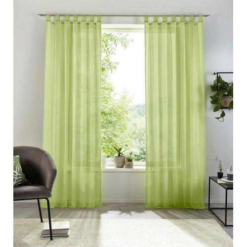 my home Gardine »Xana«, , Schlaufen (1 Stück), grün