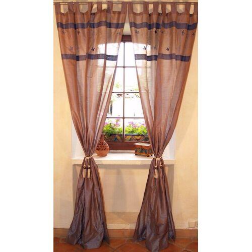 Guru-Shop Vorhang »Vorhang, Gardine (1 Paar Vorhänge, Gardinen) -..«, , blau / grau