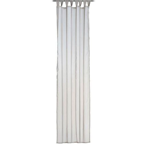 Gözze Vorhang »Sambia Schlaufenschal«, , Schlaufen (1 Stück), HxB: 255x140, Voilé Uni, taupe