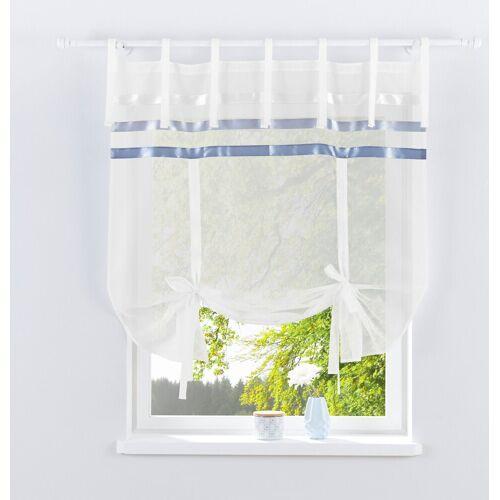 my home Bindegardine »EBY«, , Bindebänder (1 Stück), weiß-grau