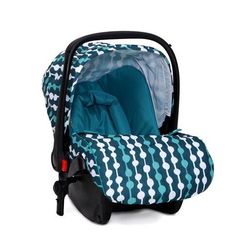 Moni Babyschale »Kindersitz, Babyschale Sarah Gruppe 0+«, 3 kg, (0 - 13 kg) mit Fußabdeckung, blau