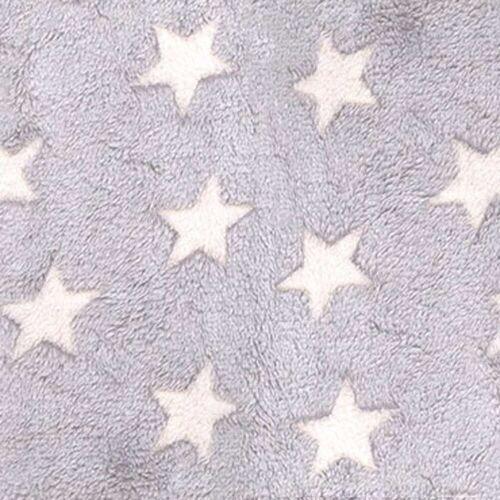 Hoppediz Babydecke »HD Fleece-Decke grau-creme Sterne für 3 & 5 Punkt-«,