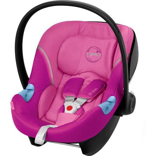 Cybex Babyschale »Babyschale Aton M, Gold-Line, River Blue«, pink