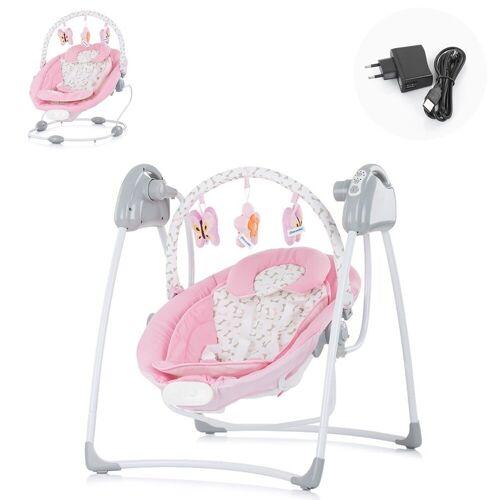 Chipolino Babywippe »Babywippe Paradise«, Babyschaukel Vibration Musik Spielbogen ab Geburt, rosa