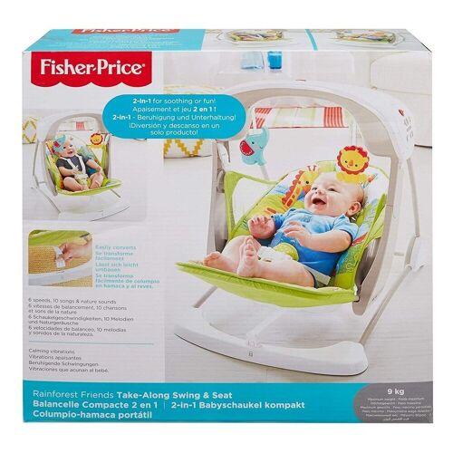 Mattel Babyschaukel »Mattel CCN92 - Fisher-Price - 2 in 1 Babyschaukel mit Bewegung und Sound, Regenwald Design«